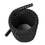 Amzdeal Battle Rope Training en nylon ultra-résistant Corde d'entrainement intensif pour Crossfit Endurance Cardio (Ø 38mm 9m)