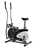 Body Sculpture Dual Action 2-in-1 Air Elliptical and Bike - Silver/Noir, 91 x 57 x 156 cm
