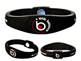 Bracelet Ionique Balance POWER - Equilibre Puissance - 100 pourcent coton jersey, Medium - 19cm / 7.5in, Noir