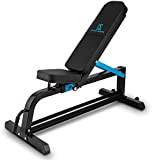 Capital Sports Adjustar Banc de musculation modulable (pour entraînement fitness, surface rembourrée de 5 cm, cadre en métal solide, diversité ...
