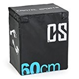 CAPITAL SPORTS Rooksy - Soft jump Box avec rembourrage en mousse et revêtement vinyle pour entrainement pliométrique - 60cm