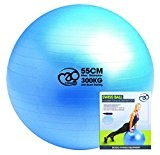 Fitness Mad BallBallon Suisse - Balle de Gym Professionnelle, Ballon de Fitness Increvable avec pompe et DVD 300kg