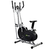 Goplus? 2 IN 1 Elliptical Bike Dual Cross Trainer Machine Exercise Upgraded Model by Goplus