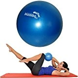 Msd BALLE 26 CM SOUPLE +2 Bouchons d'oreilles +Paille Pilates Gymnastique Yoga Gym SOFT OVER balle BLU