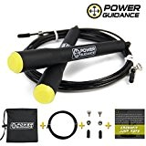 POWER GUIDANCE Corde à Sauter - 3 m de câble léger facilement réglable - For WOD, Crsosfit & Boxing Training ...
