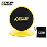 POWER GUIDANCE Core Sliders (Ensemble de 2 PC) - Disques Coulissants Double Face - Utilisation sur tapis ou planchers de ...