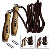 RDX Fitness Cuir Corde à Sauter Poids Vitesse Speed MMA Crossfit Entrainement Musculation Boxe Jump Rope