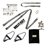 WOSS Military Strap Suspension Trainer, Gunmetal Gray, with Built-In Door Anchor, Made in USA